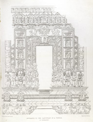 Entrance to the sanctuary of a temple at Chandravati plate 17